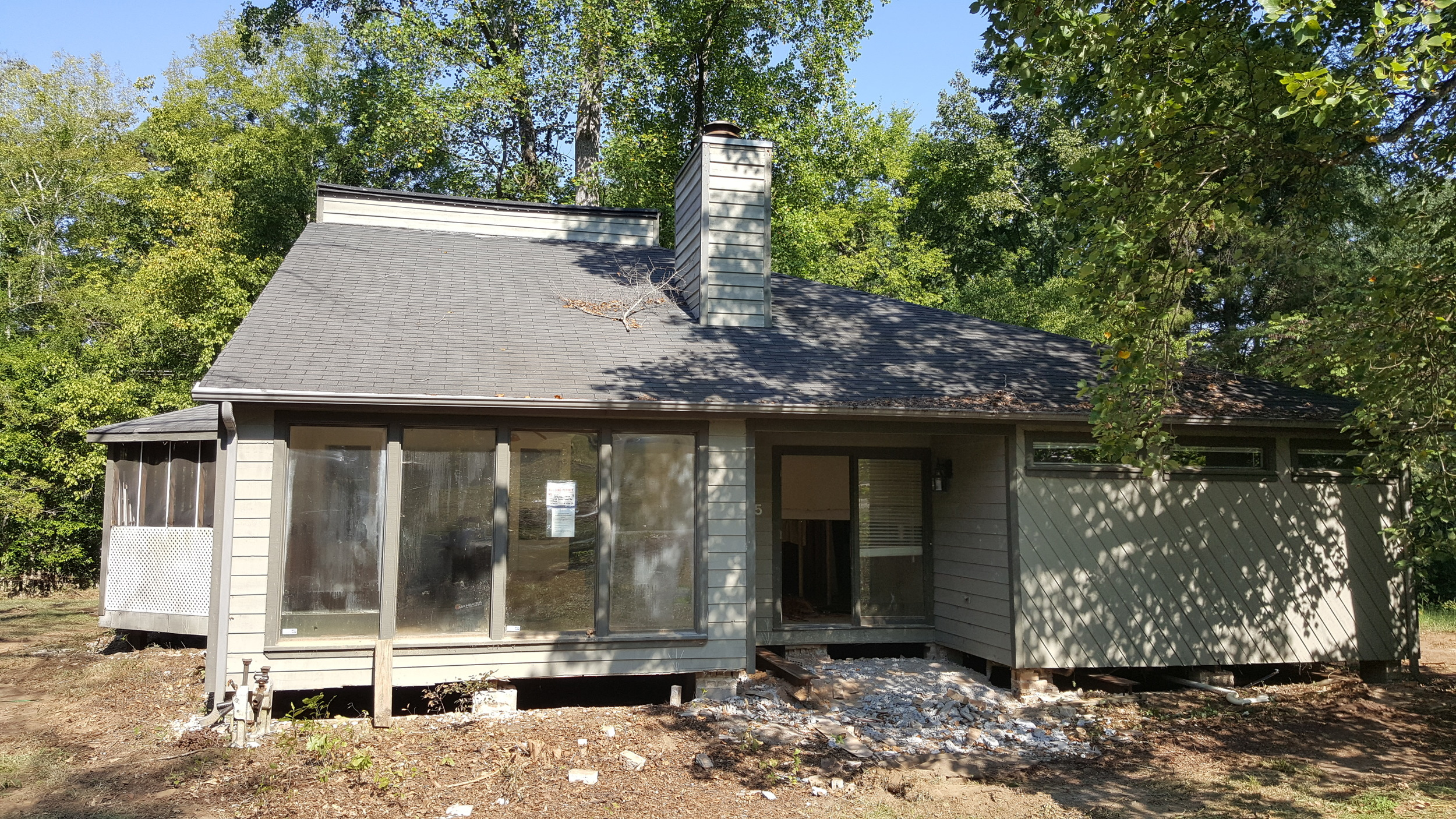 This home in Irmo was affected by the flood and needed to be raised to meet new flood regulations.