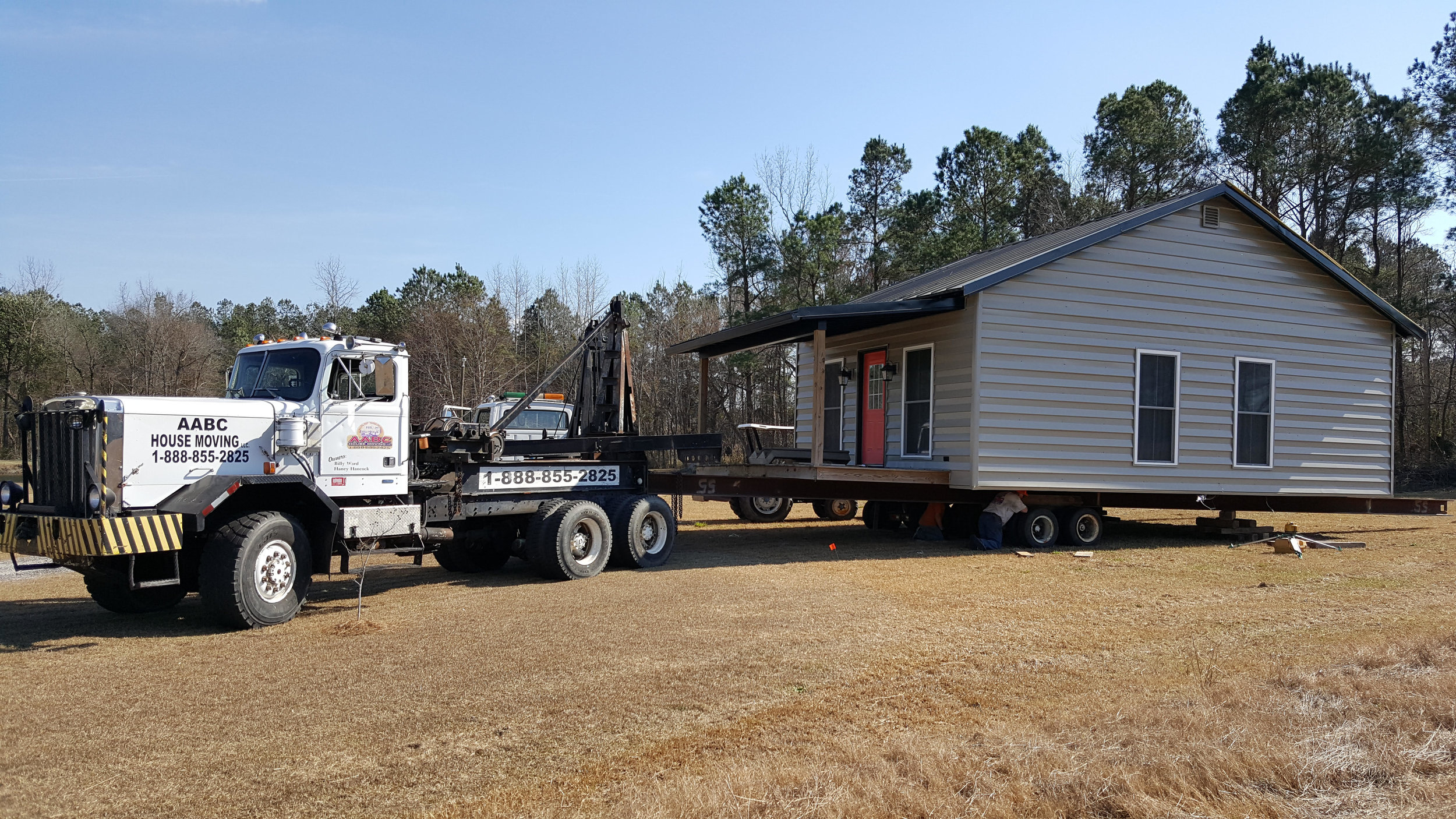 This home in Turbeville was relocated to a new location 10 miles away.
