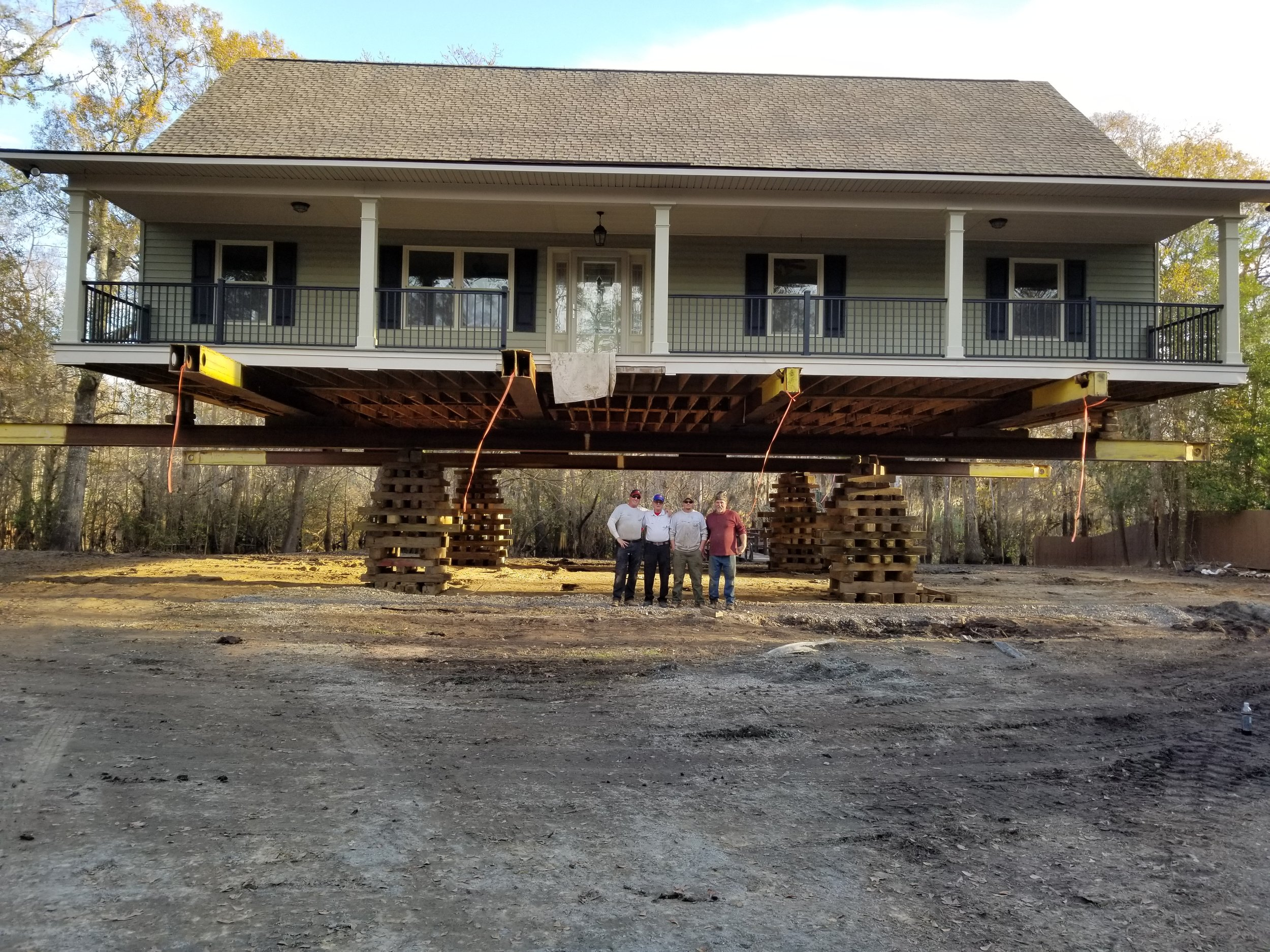 This Mullins, SC home was moved over 20 feet and raised 12 feet to avoid future flooding.