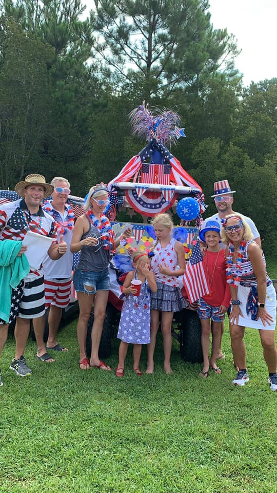 Congratulations to the Johnsons for taking home the First Place prize for Most Patriotic Cart