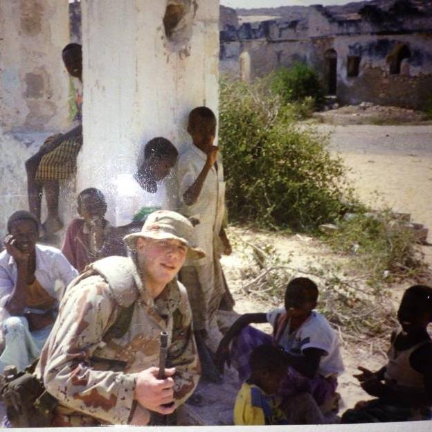 Dan, while serving in Mogadishu Somalia, 1994