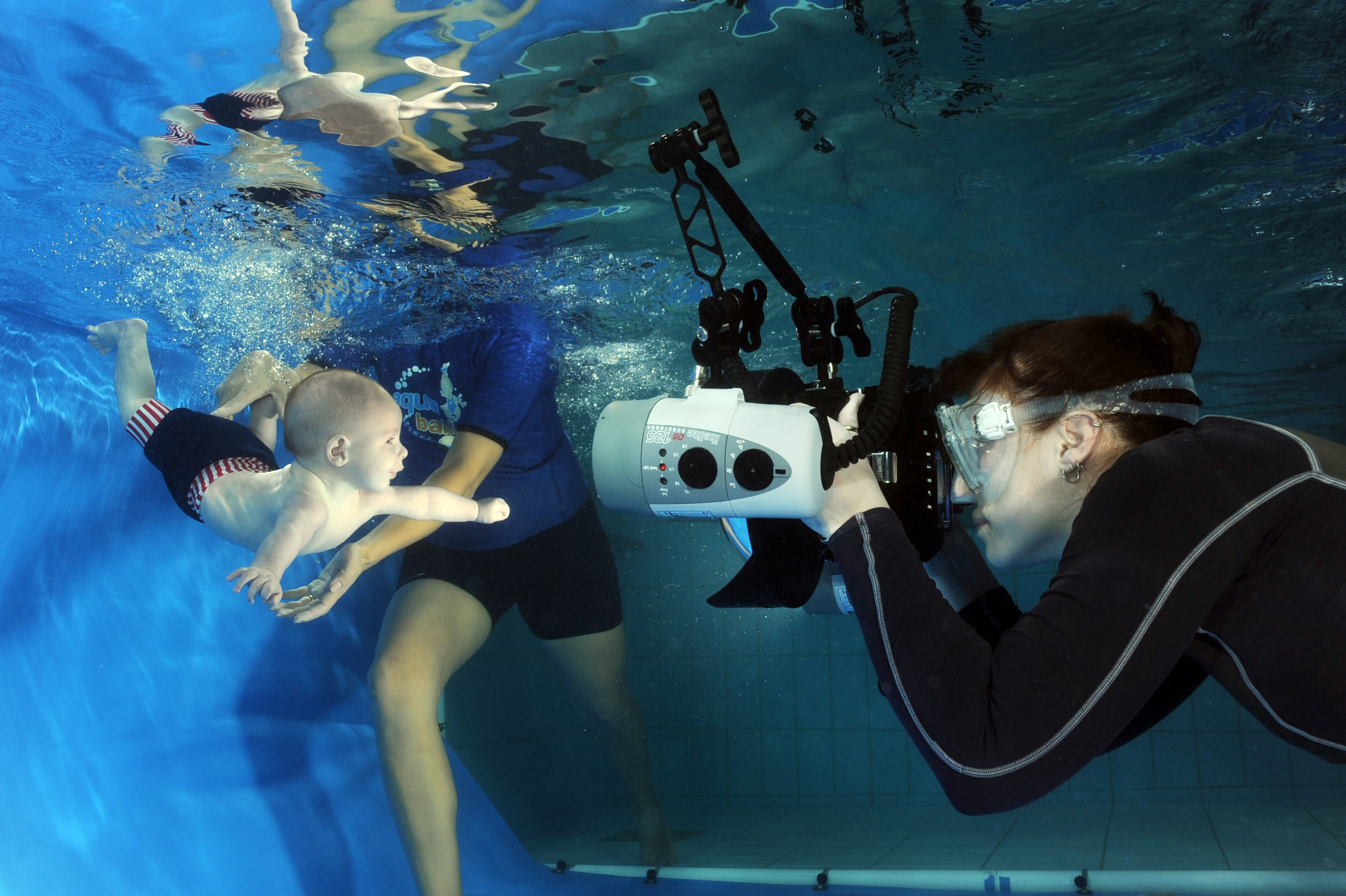 About Waterbubs: - We are a team of professional underwater photographers who specialises in capturing magical images of babies, children and families under the water.With fifteen years of experience we have been photographing babies underwater all over the world and have an established working relationships with some of the biggest swim schools out there.