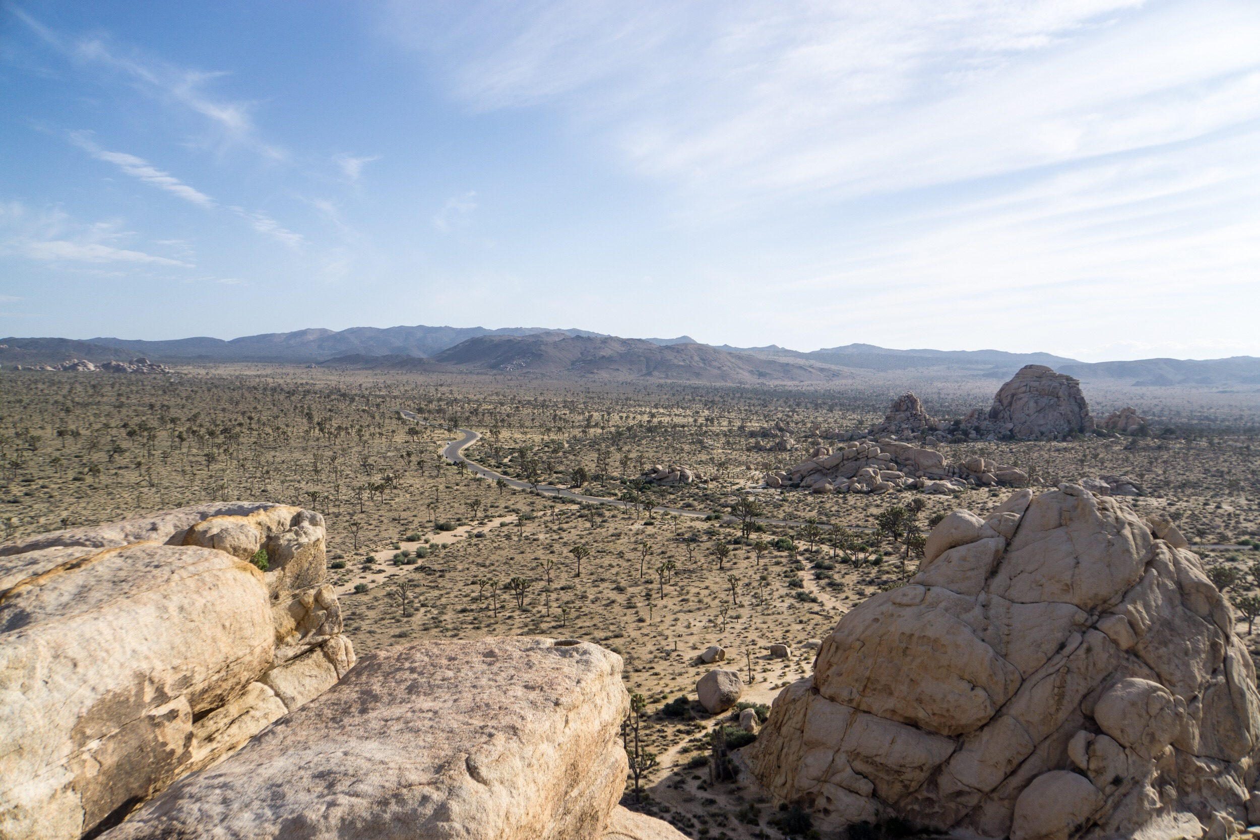 Scrambled to the top of Cyclopes Rock pile to get a better view of the land.