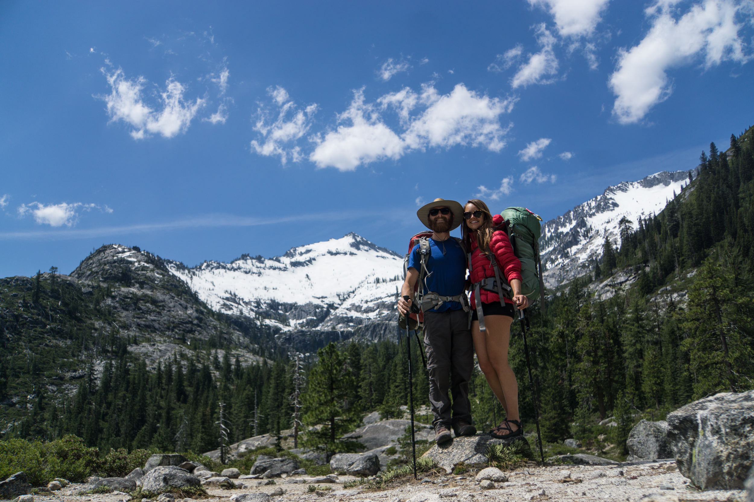 Backpacker bums in the Trinity Alps