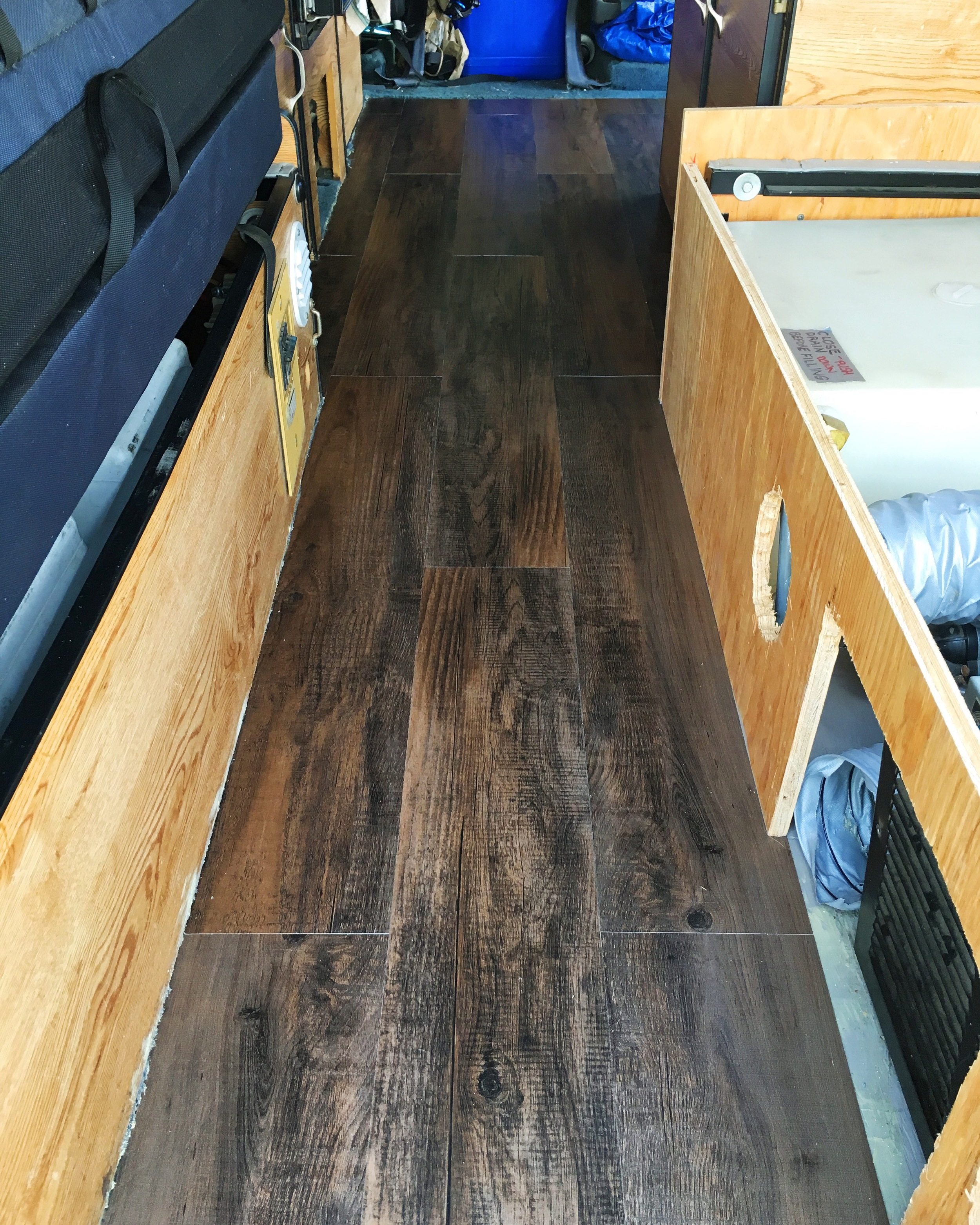 New flooring going down
