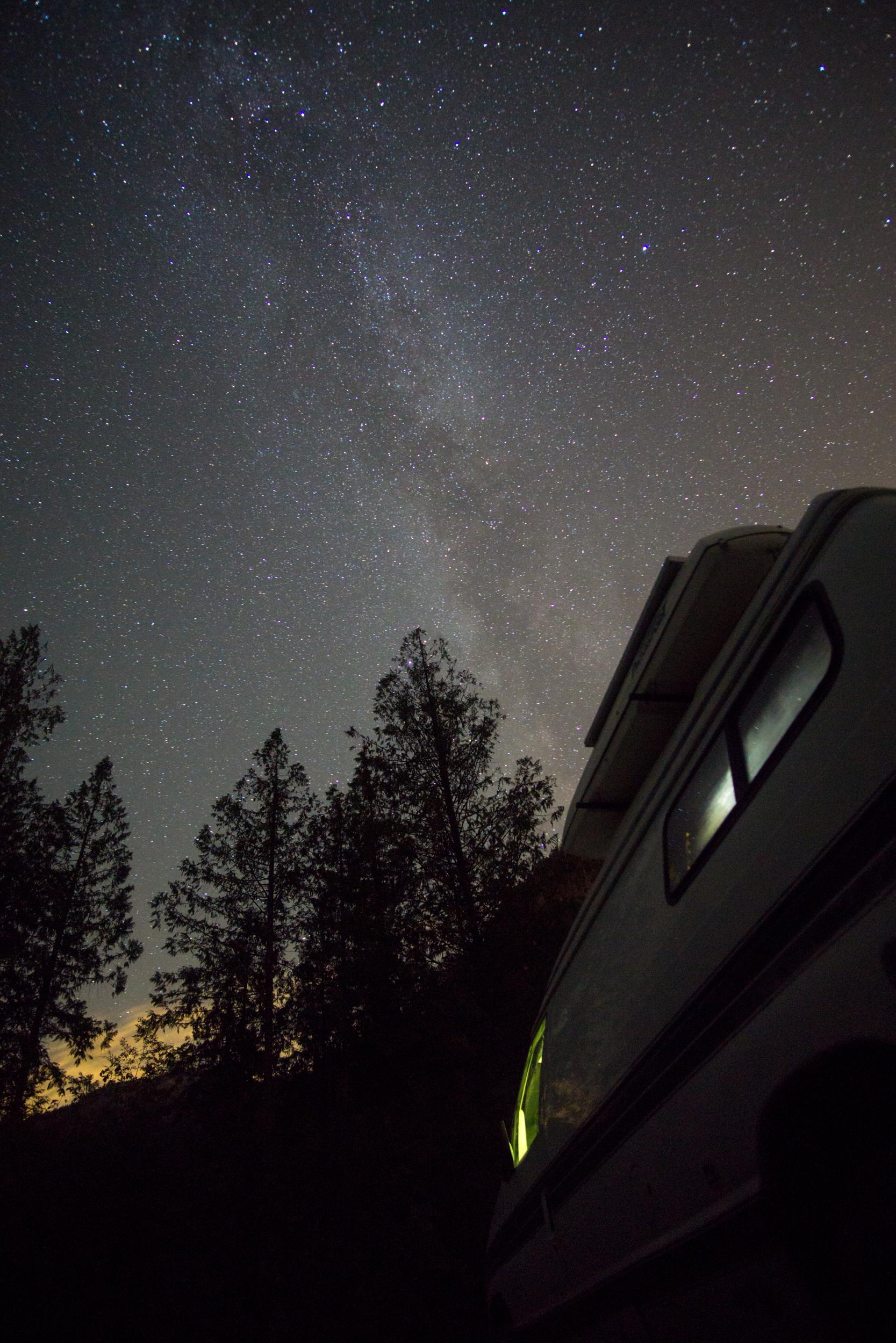 Campsite sky in Squamish
