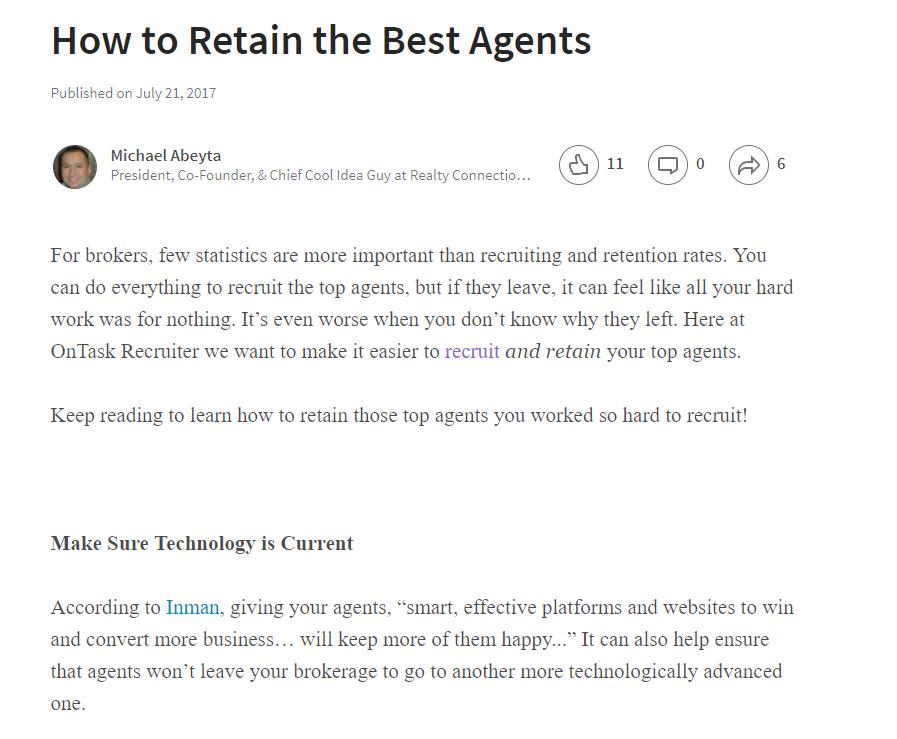 Linkedin Published Post - Ghost write blog posts or LinkedIn published posts
