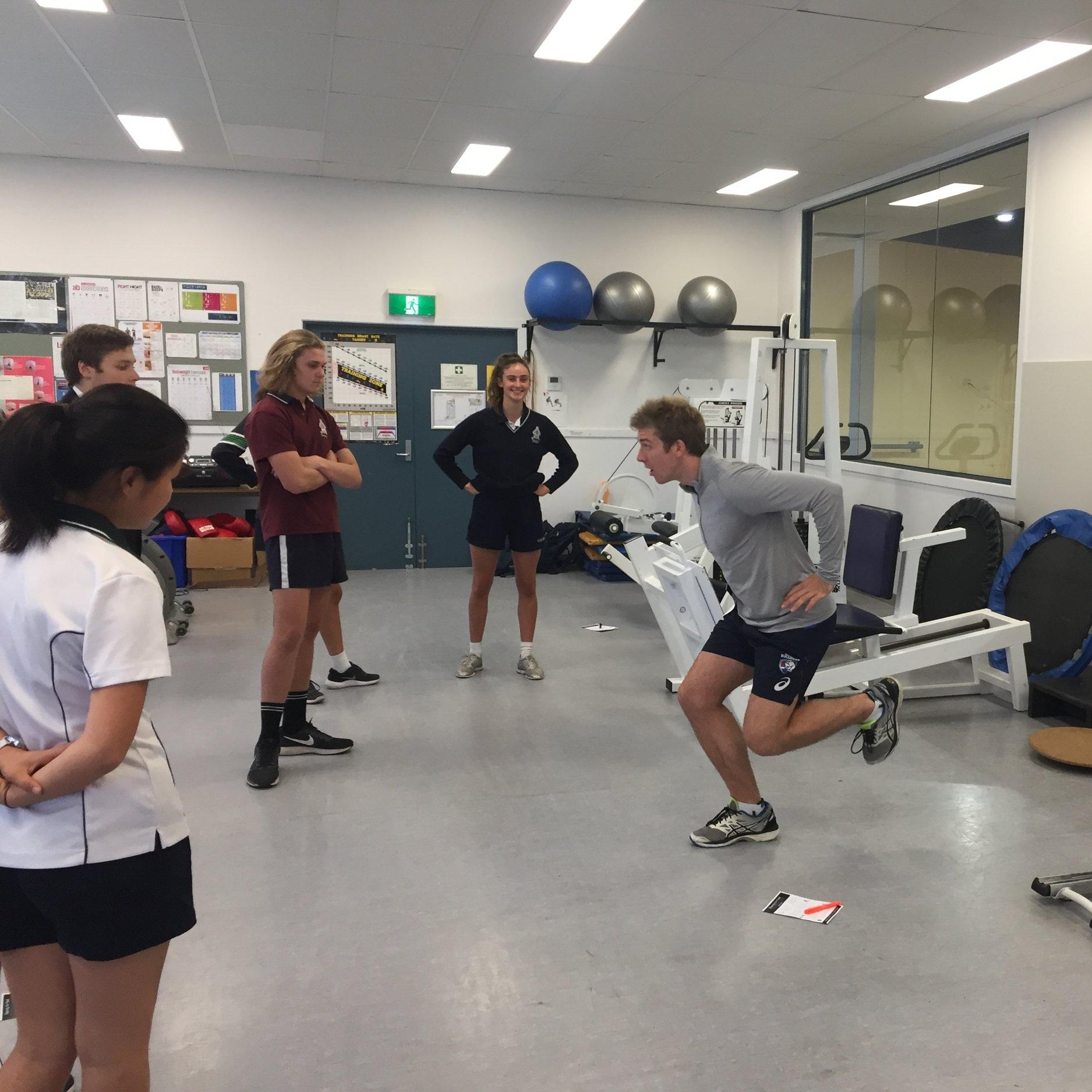 Injury Prevention workshops   Photo credit:  Tintern Grammar School.