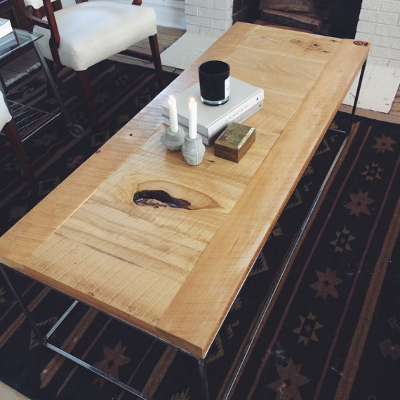 Reclaimed Elm Coffee Table Craft Hammer
