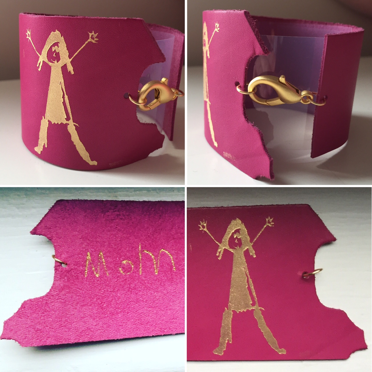 Stencil   Stenciling can create crisp,clean lines, shapes, and outlines. All types of leather can be stenciled.