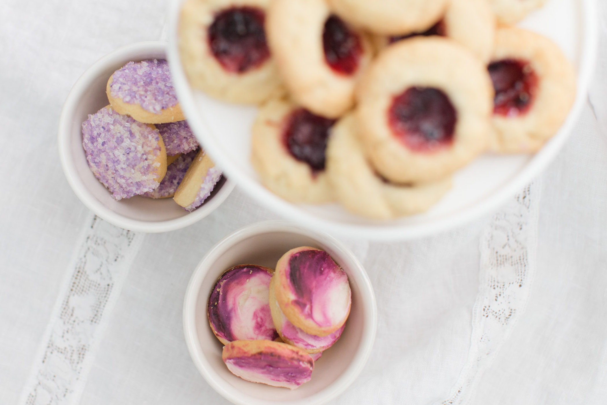 Blackberry thumbprints and pixie sugar cookies by Forest Fairy Bakery in Issaquah, WA