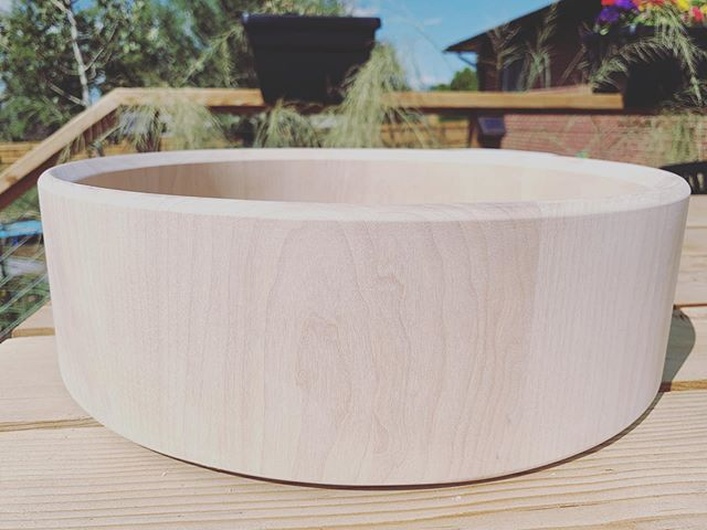 @petarjdrumss asked for a birch snare. This is the first time I've built one with birch and certainly won't be my last.