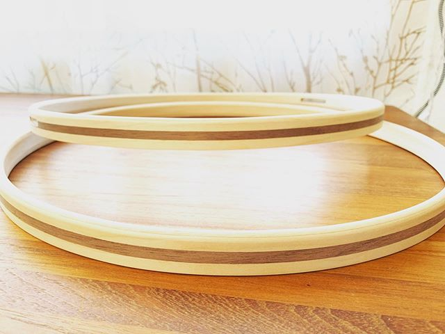 Custom maple hoops with walnut inlay courtesy of @stellardrums for @jrosedrums