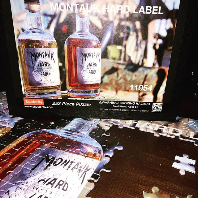Downtime after the New Year celebrations- Cheers from Montauk Hard Label! #HappyNewYear #2017 #Puzzle #GoHard #GetBarreled #MontaukHardLabel