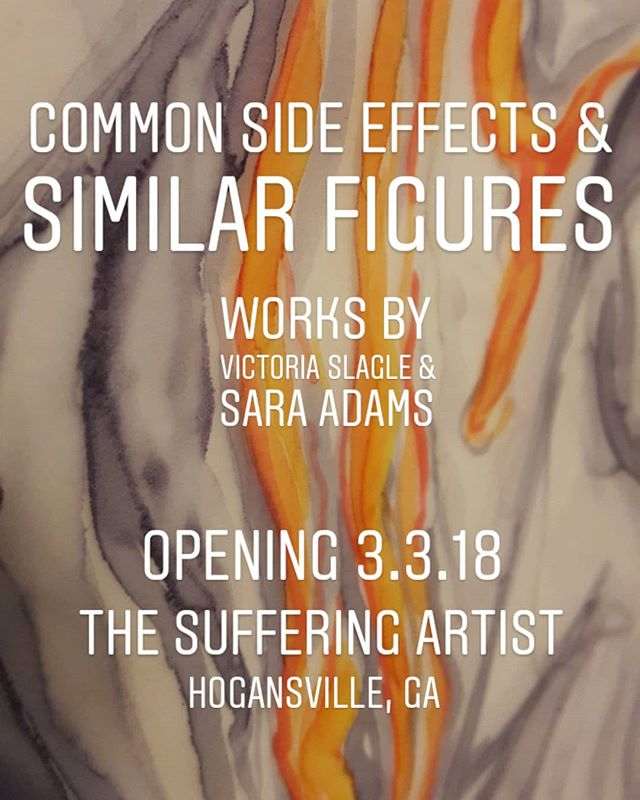 Show opens this Saturday! 6-9 pm. Food, wine, live DJ, & ART! . . . . . . . . #commonsideeffectsandsdimilarfigures #COMMONSIDEEFFECTS #artshow #artexhibit #exhibition #opening #showopening #artinstallation #installation #installationart #painting #paperart #papersculpture #art #contemporaryart #openingreception #mentalillness #bipolar #depression #mentalhealth #mentalhealthawareness #lagrange #lagrangega #hogansville #hogansvillega #georgia #georgiaart #georgiaartist #vesstudio #breakthestigma