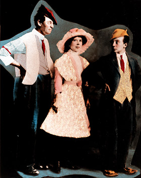 The Three Keatons: Joe, Myra & Buster, c. 1916.