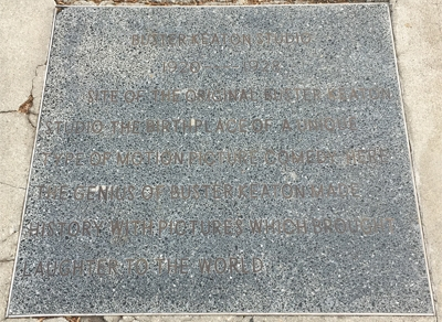This plaque was place in 1988. It has a few problems.