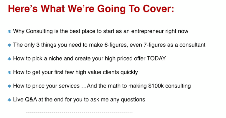 $2,000/Month Within 42 Days With Consulting - Sam Ovens