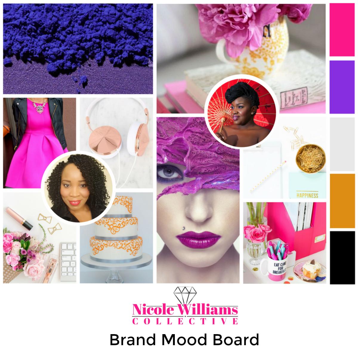 Nicole Williams Collective Brand mood board