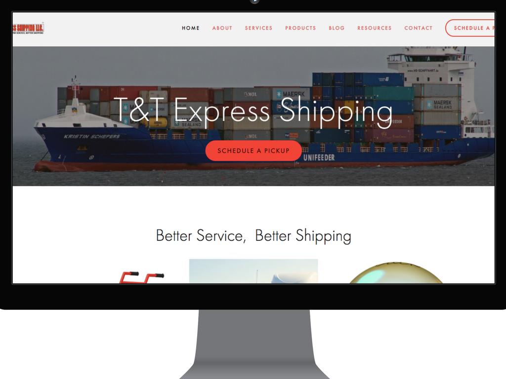 T&T Express website 2017.png