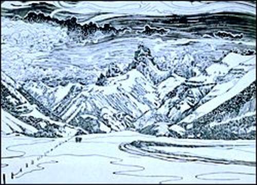 Grand Tetons from Targhee