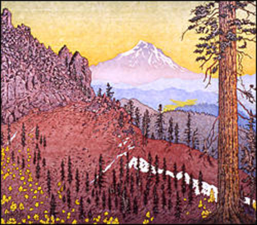 Mt. Shasta from Red Mountain, Marble Mountains Wilderness