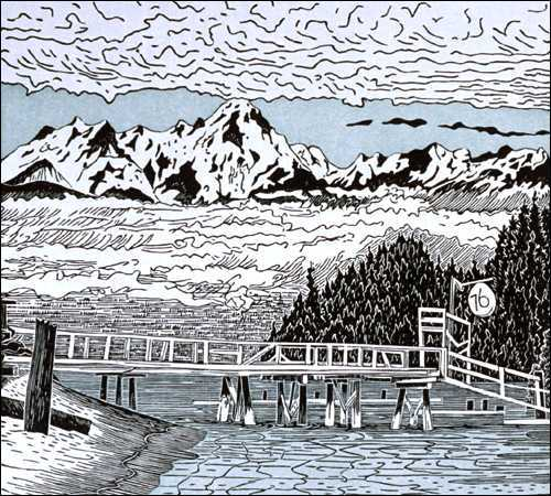 Olympic Mountains from the Hood Canal