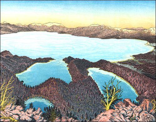 Lake Tahoe from Maggies Peaks, Desolation Wilderness
