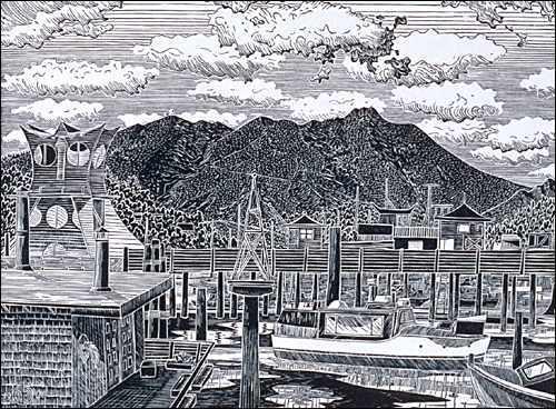 Mt. Tamalpais from Sausalito Waterfront
