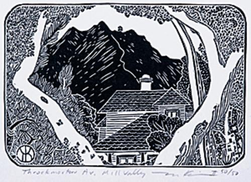 Mt. Tamalpais from Throckmorton (Laurel St., Mill Valley)