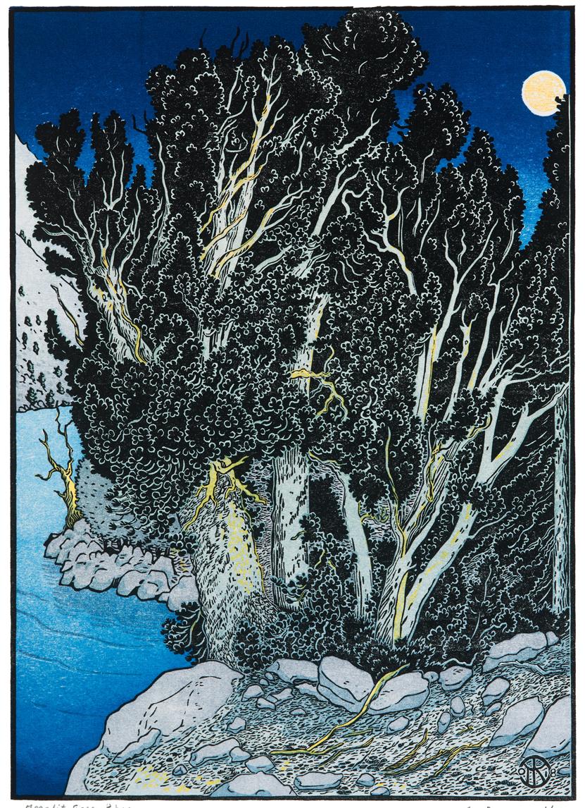 Moonlit Sierra Pines