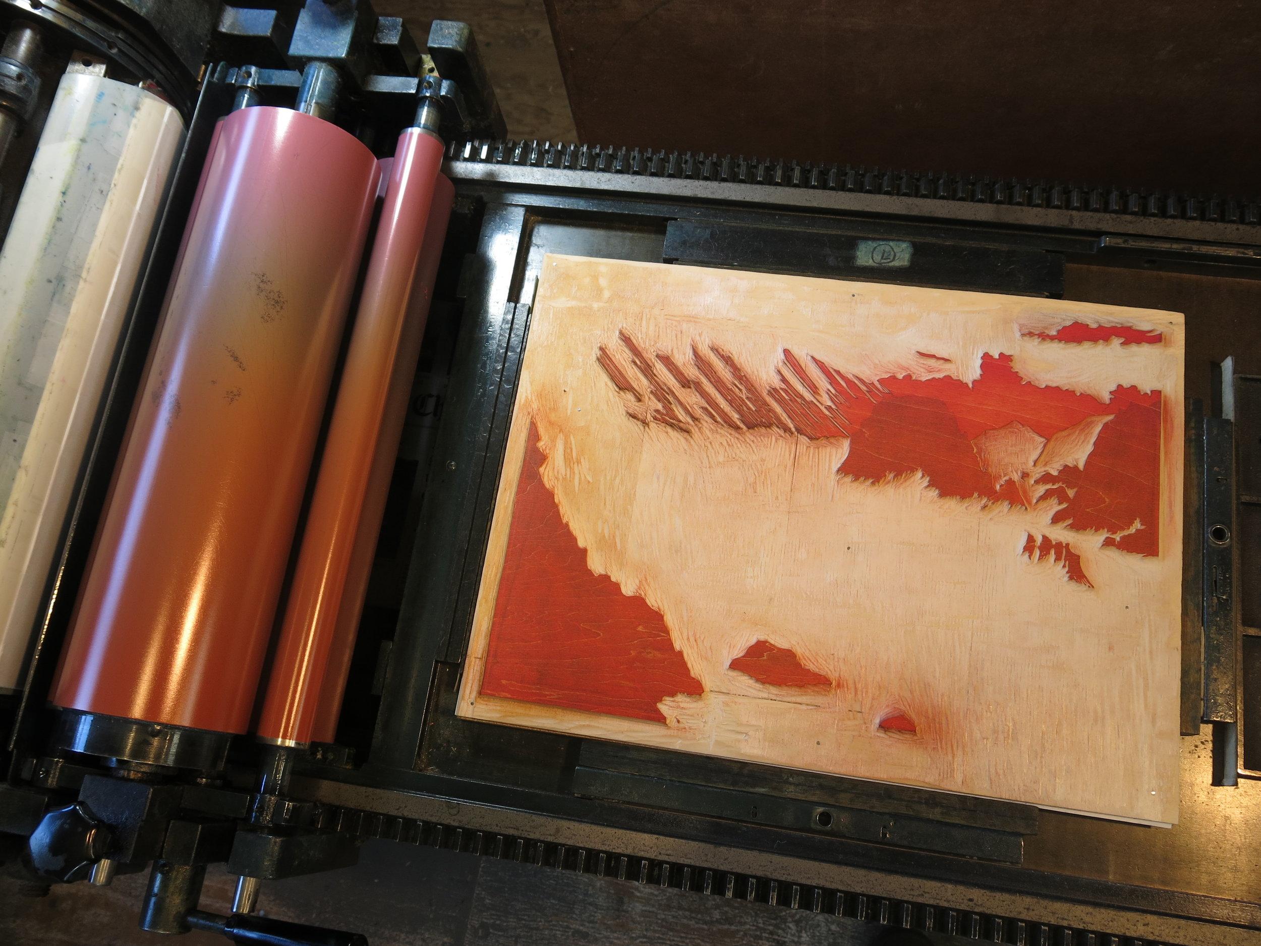 printing pink tint block