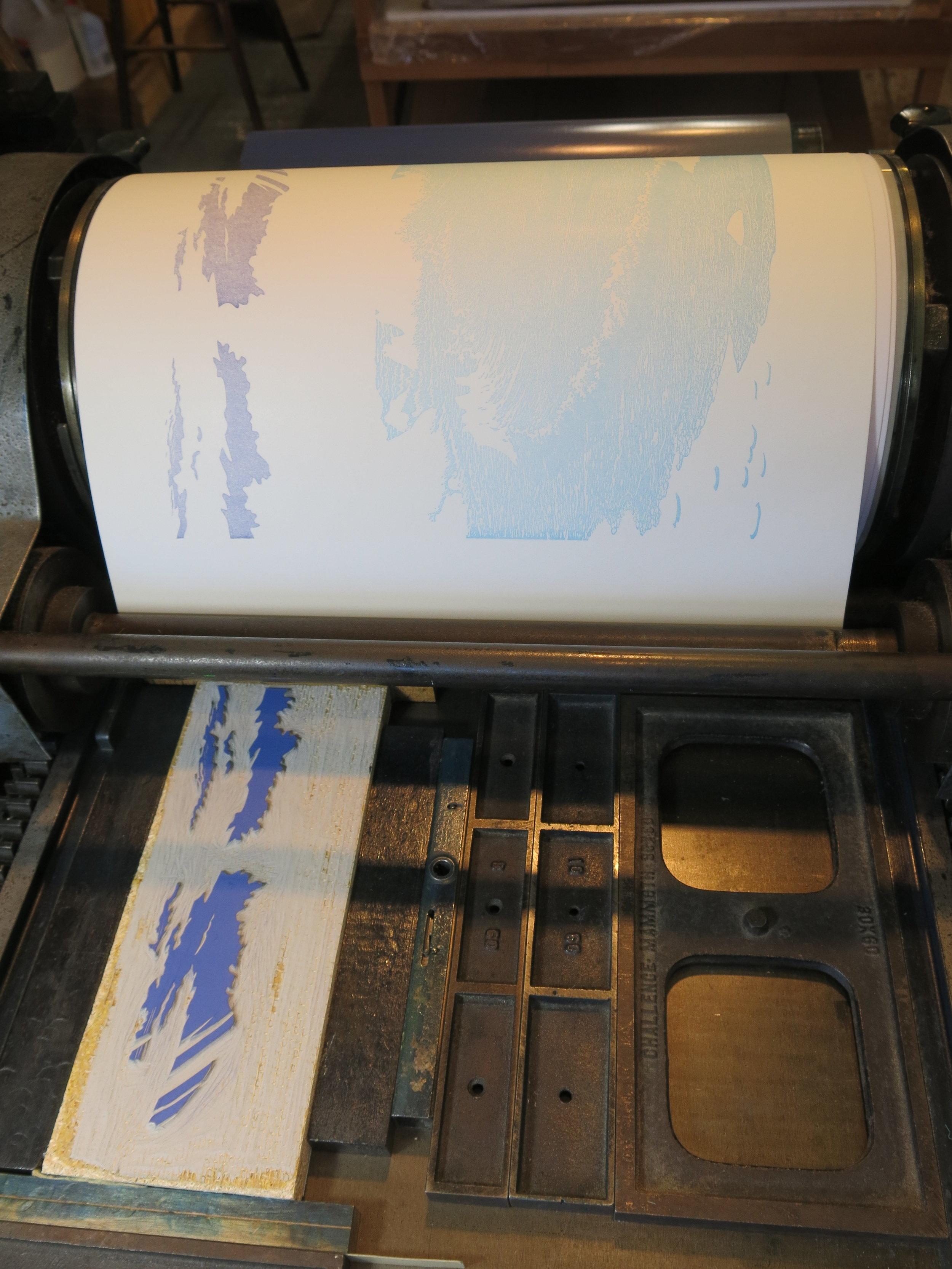 printing background clouds block
