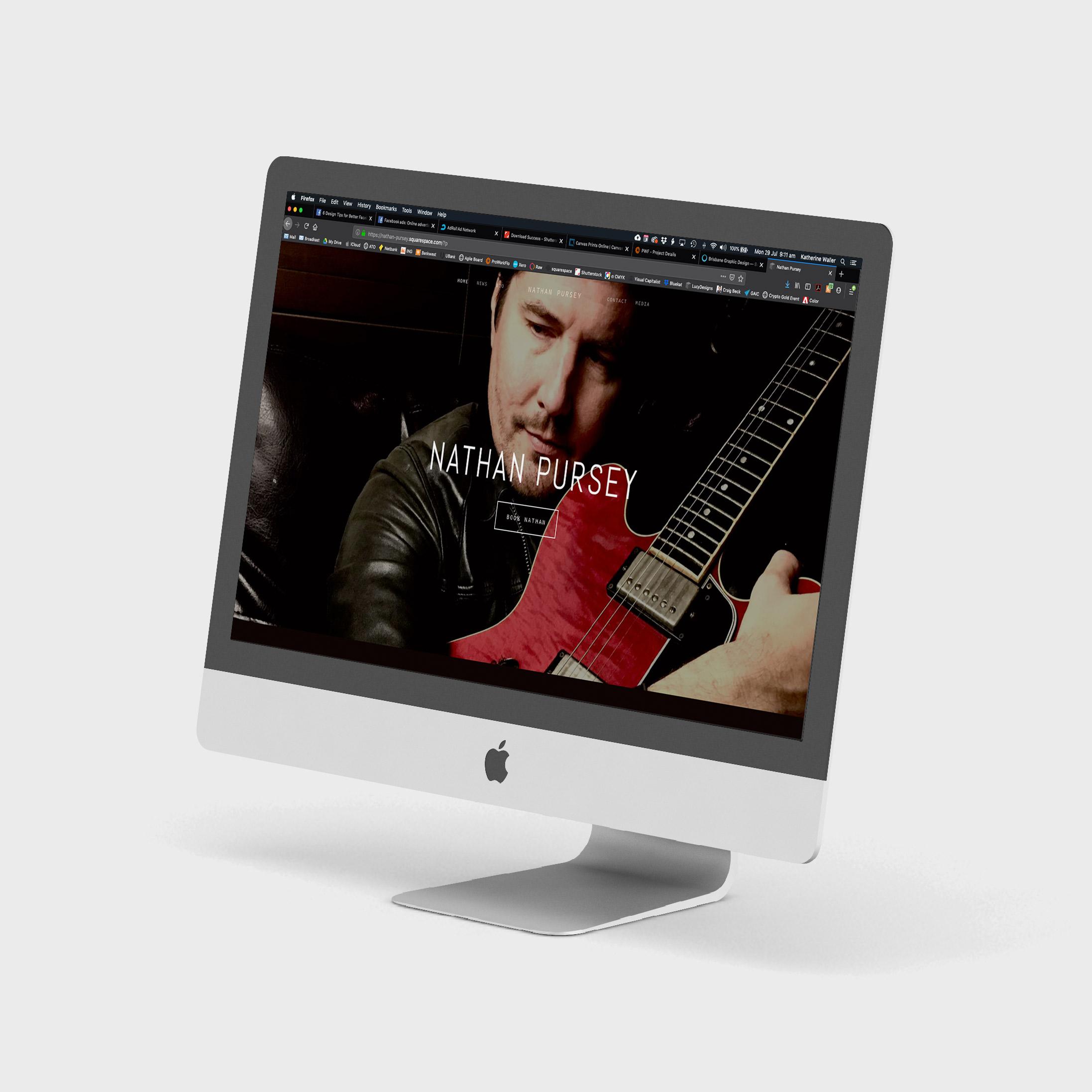 Website of local Brisbane musician Nathan Pursey