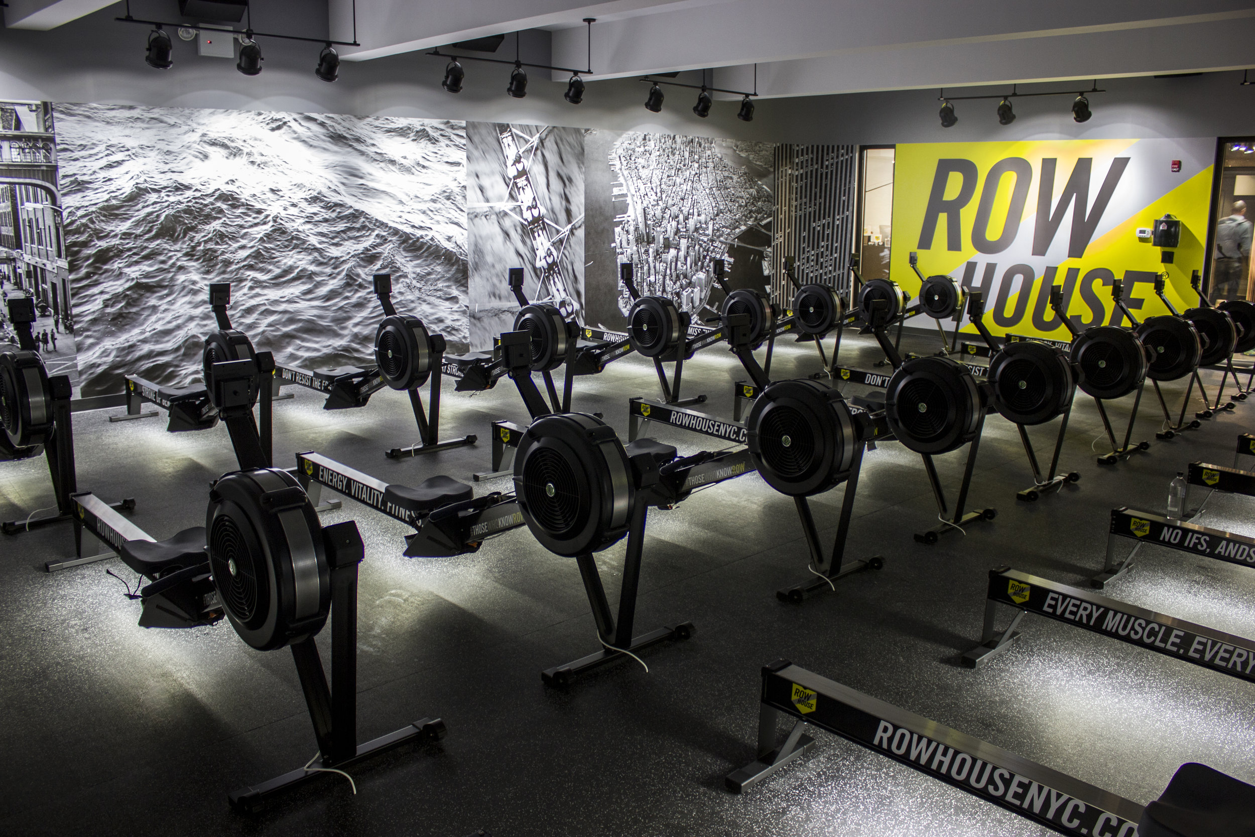 "Row House uses Concept 2 rowing machines. Rowing machines, of any brand, are also called ergometers or ""ergs."""