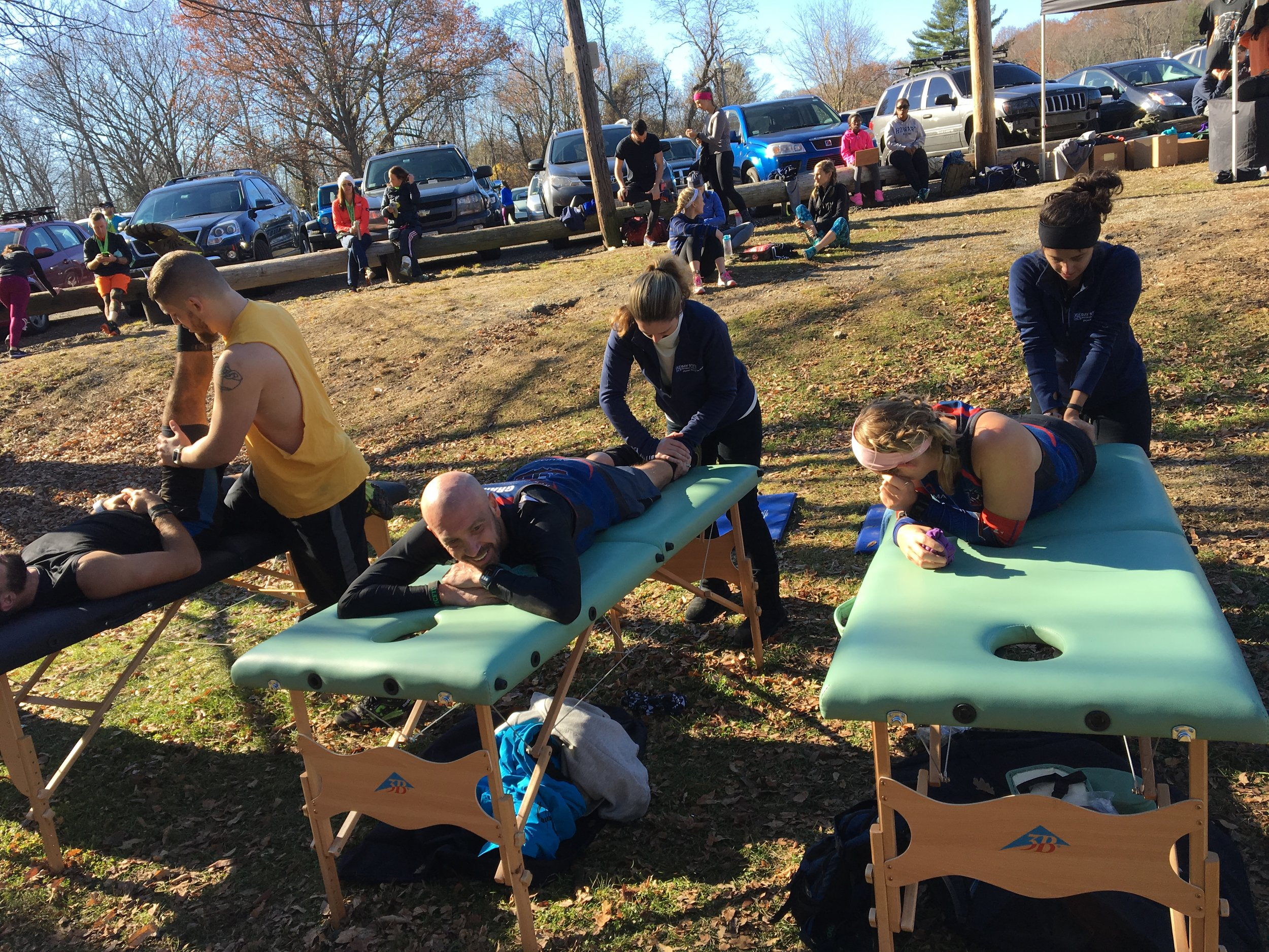 Free massages were available to the athletes throughout the day. Photo Credit: Joe Crupi