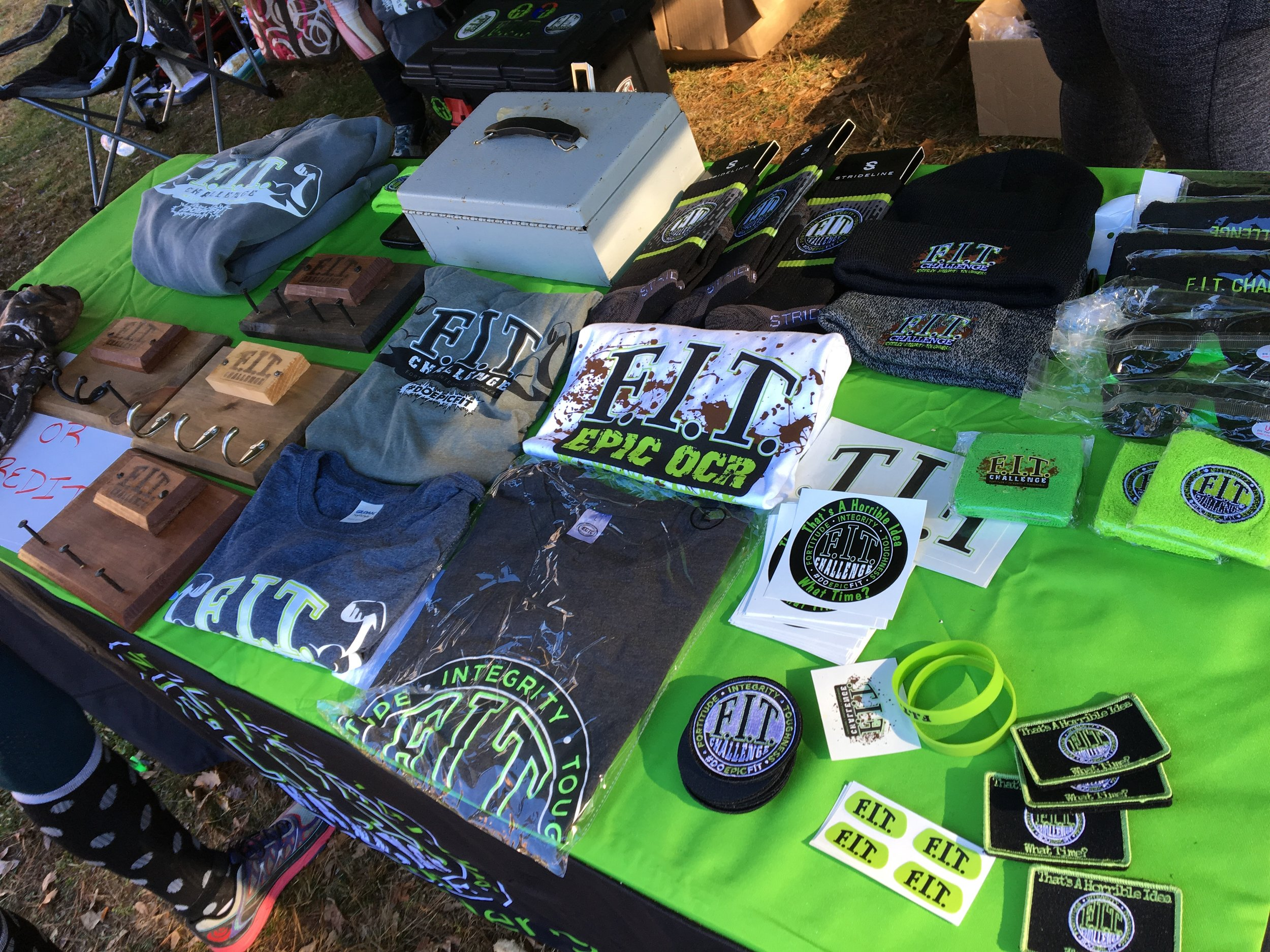 No race is complete without a wide range of branded merchandise. Photo Credit: Joe Crupi