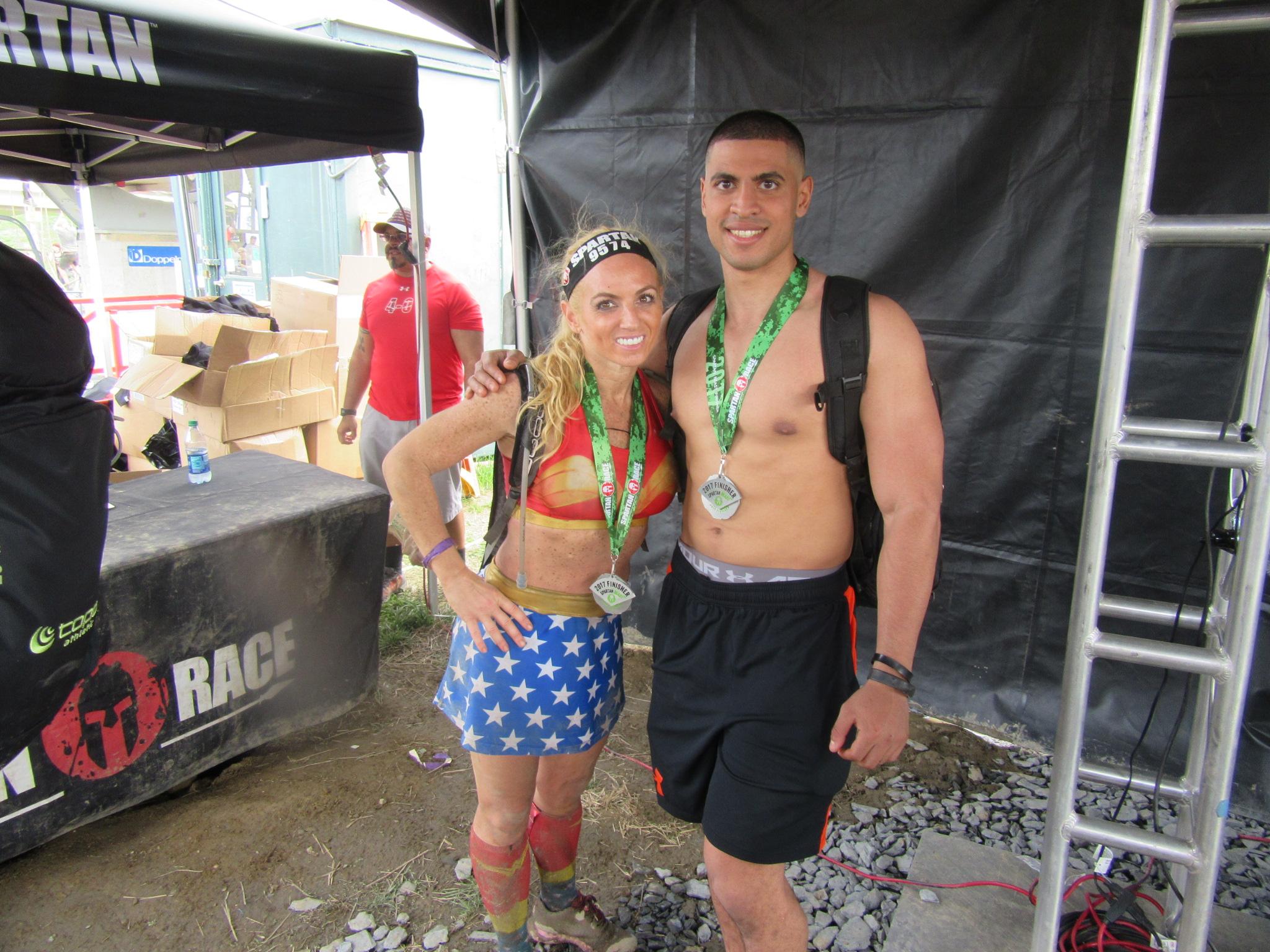 Myself and Daily Burn Spartan star, fitness model and trainer Madeline Dolente. (Instagram.com/madelinedolente)