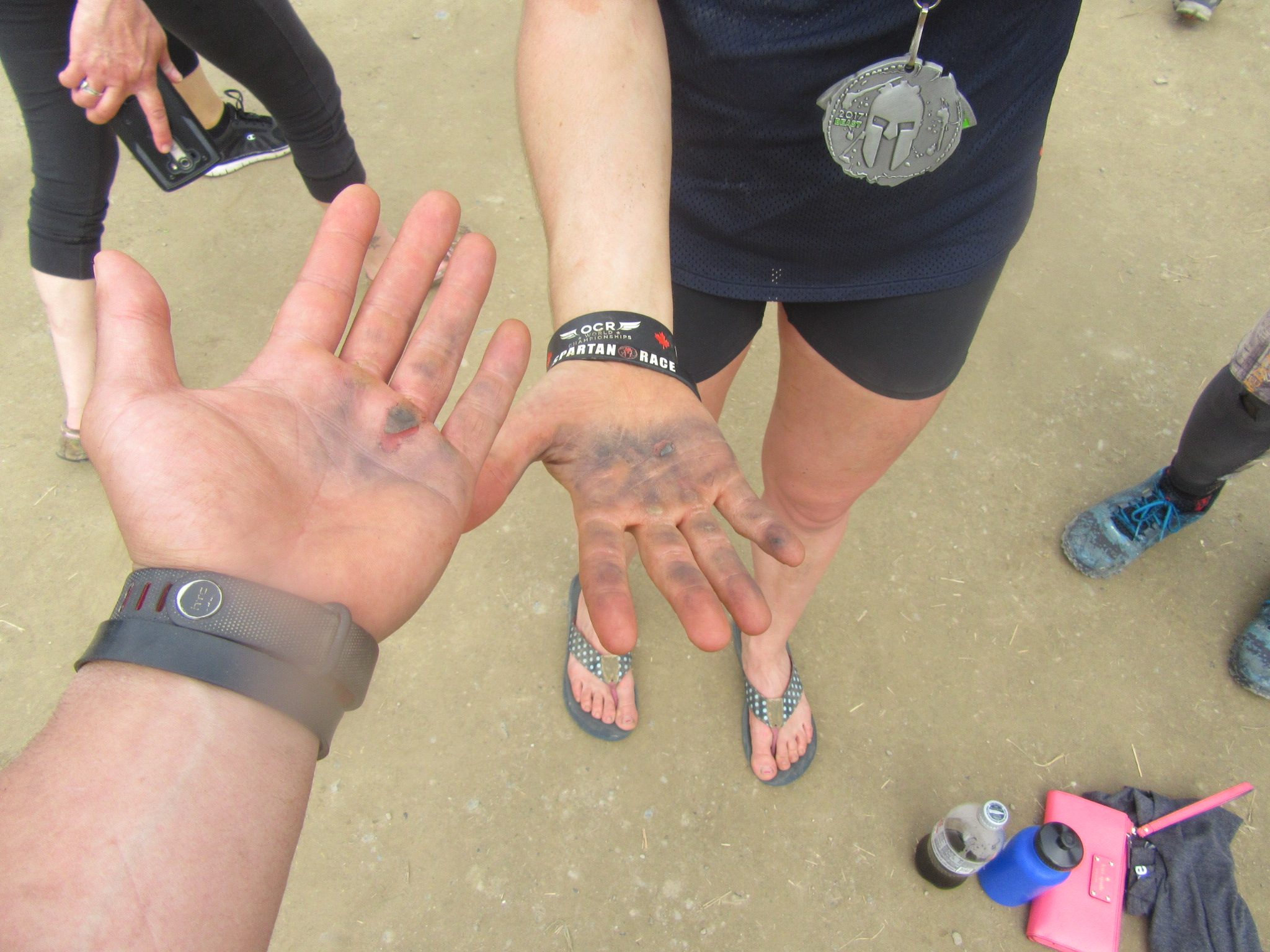 The Twister ripped Katie and I's hands.