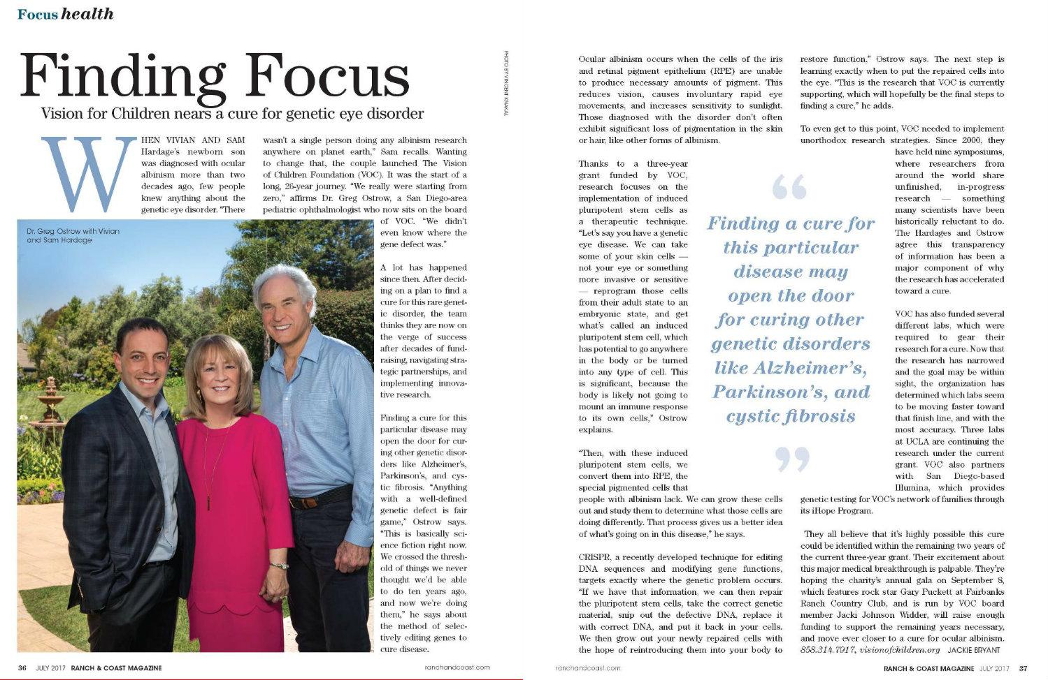 Ranch and Coast Magazine, July 2017
