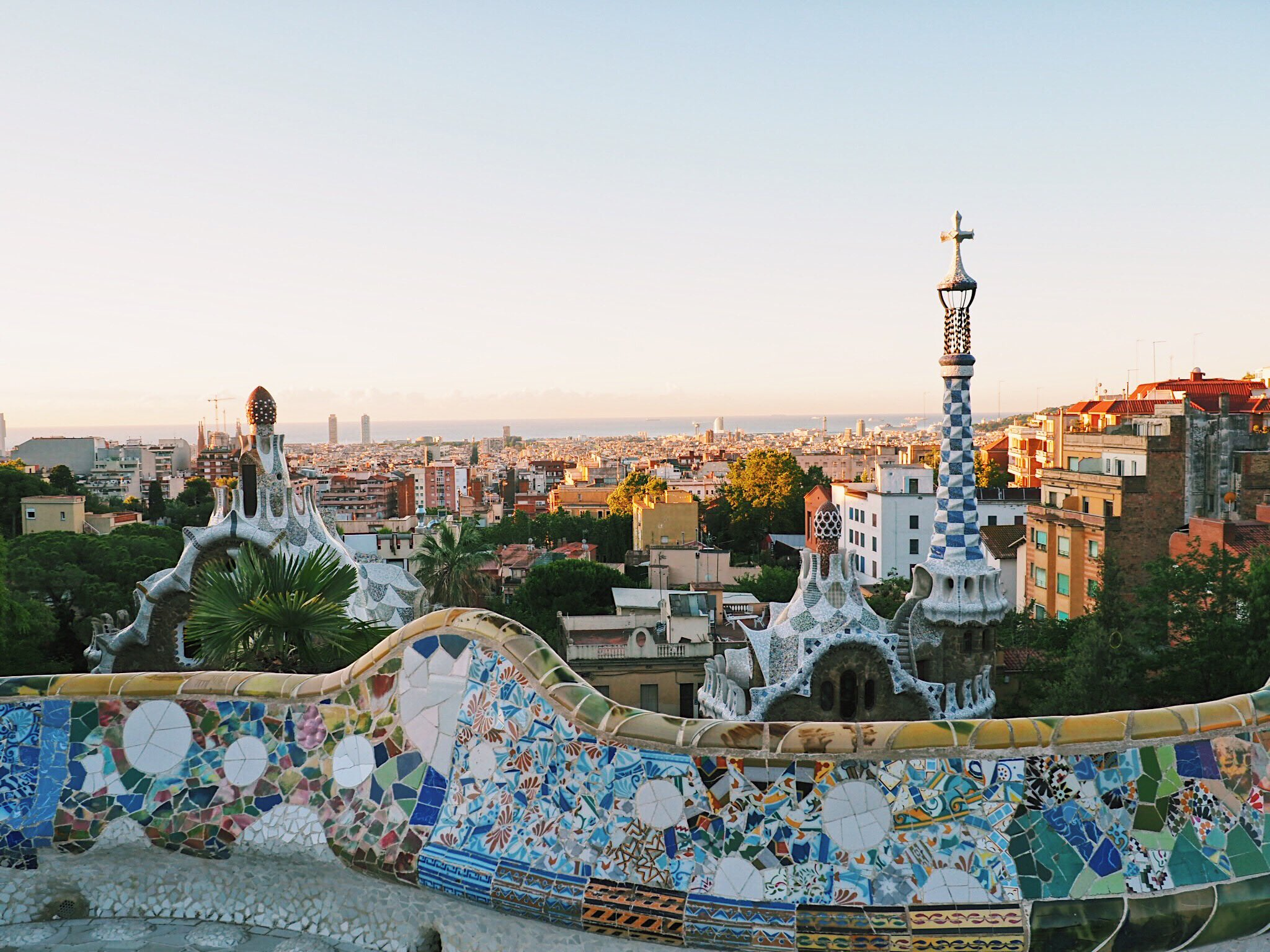Park Guell at dawn. Photo by me.