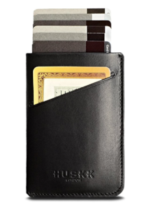 Men's Slim RFID Wallet  - slim enough to fit in a travel pouch or your front pocket so you don't get pickpocketed, and RFID so no one can scan your cards to steal your information. On sale in multiple colors - $20 w/ free shipping.