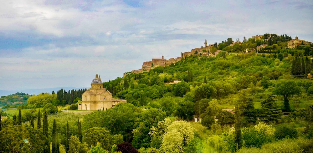 Montepulciano and Church of St. Biagio