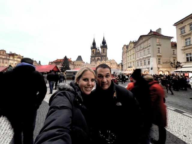 With the husband enjoying Thanksgiving Day 2015 in Prague!