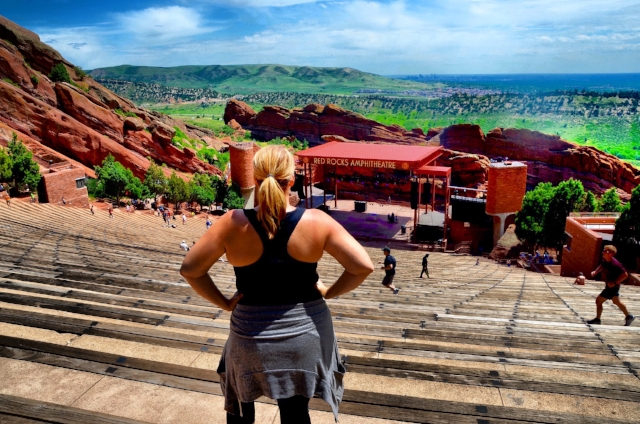 Taking in the views at Red Rocks in Denver, CO on a quick 48 hour weekend getaway in June 2016