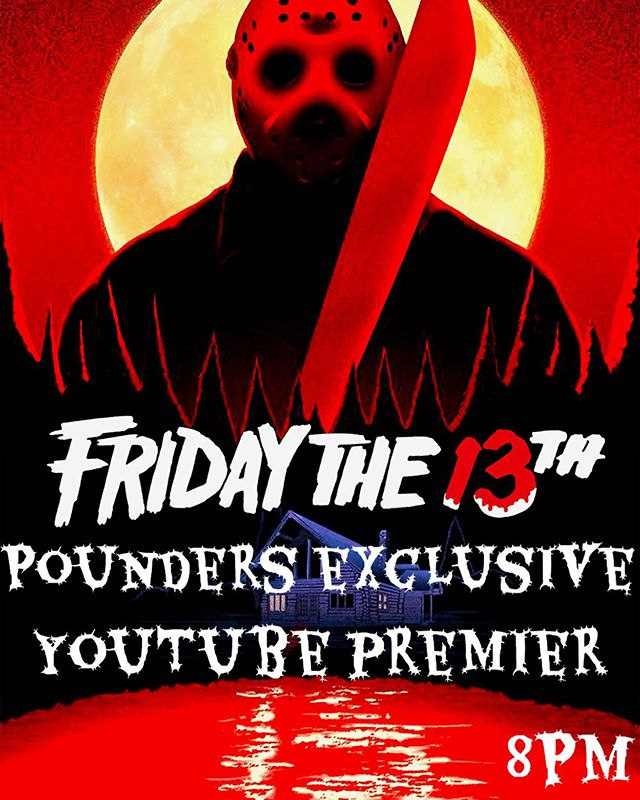 """Check out the brand new music video """"Through the Fire"""" releasing tomorrow, Friday the 13th at 8 p.m. (PAC) via YouTube & Facebook! Join the band in a live chat via POUNDERS YouTube Channel and Facebook!"""