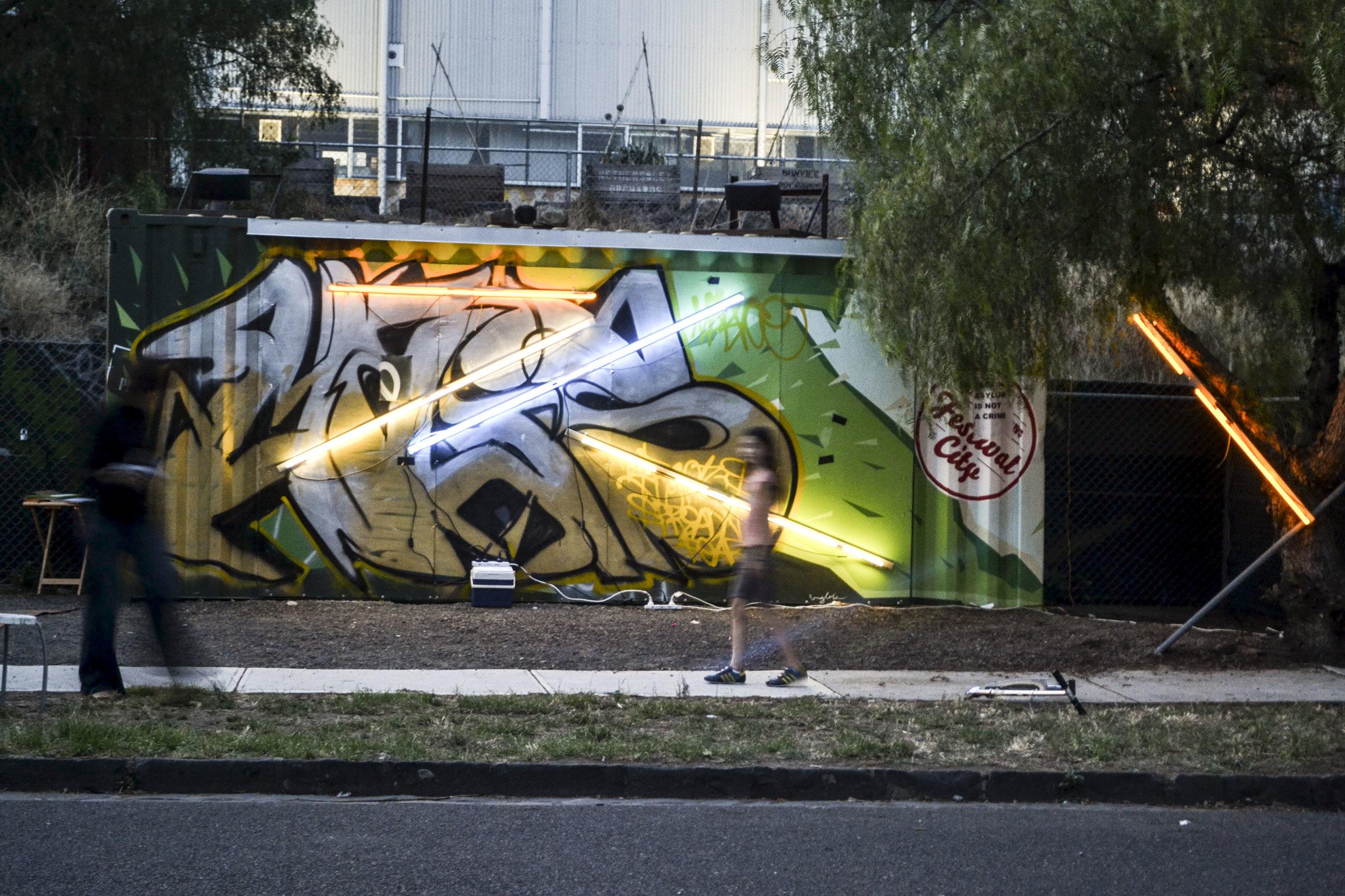 Art in the City contain yourself - credit Shanti Sumartojo.JPG