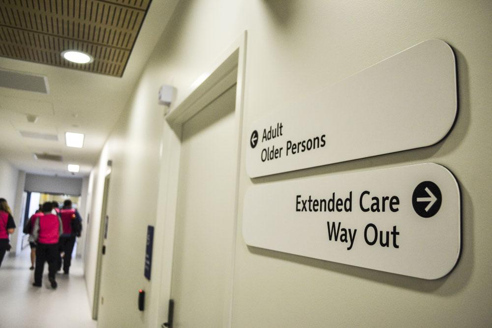 Bendigo new hospital corridor.JPG
