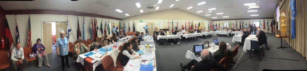 Dressed in traditional country attire, Delegates debate the issues of the United Nations in an effort to build peace and gain a global understanding.