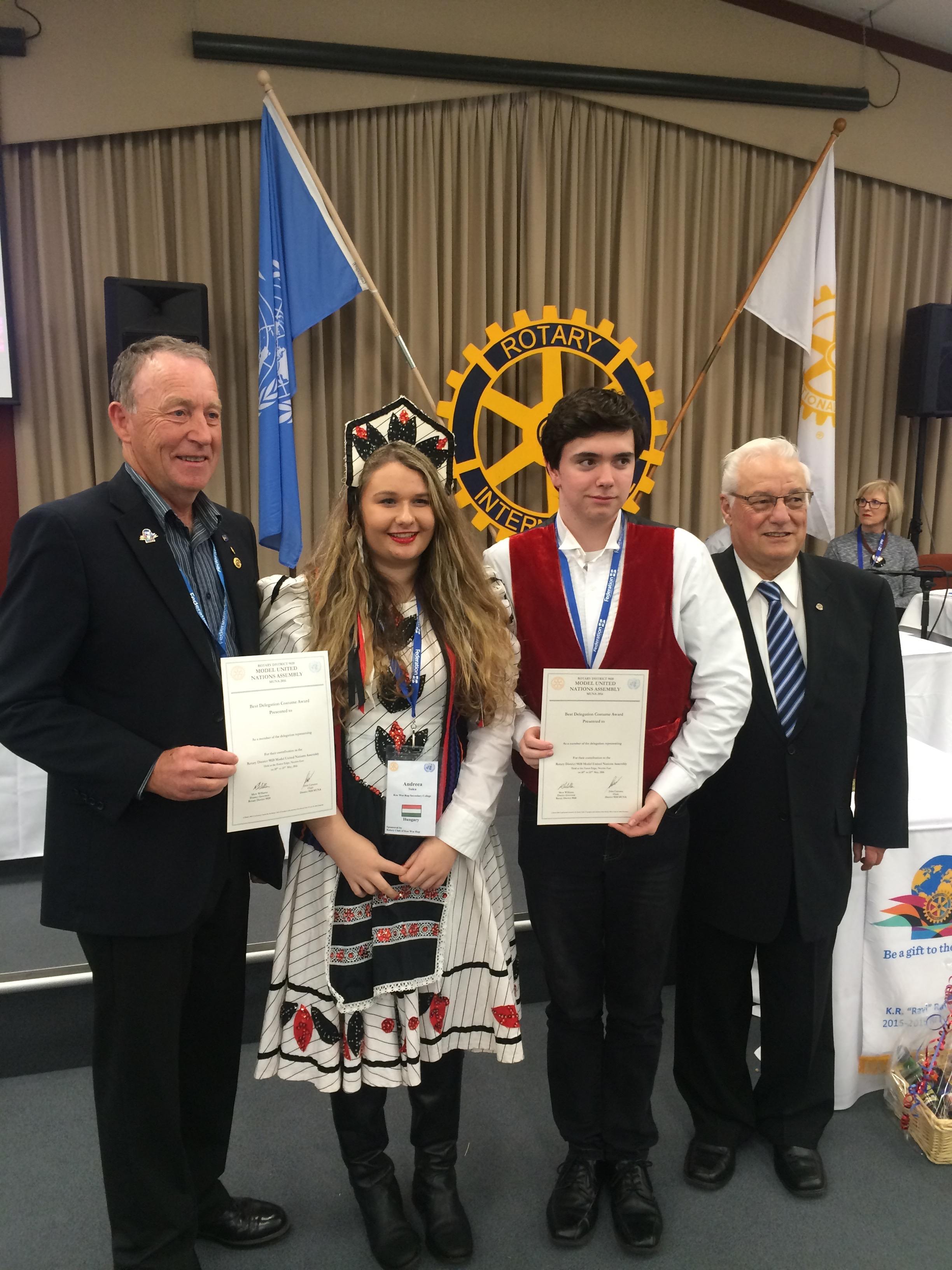 Best Delegation Costume Award